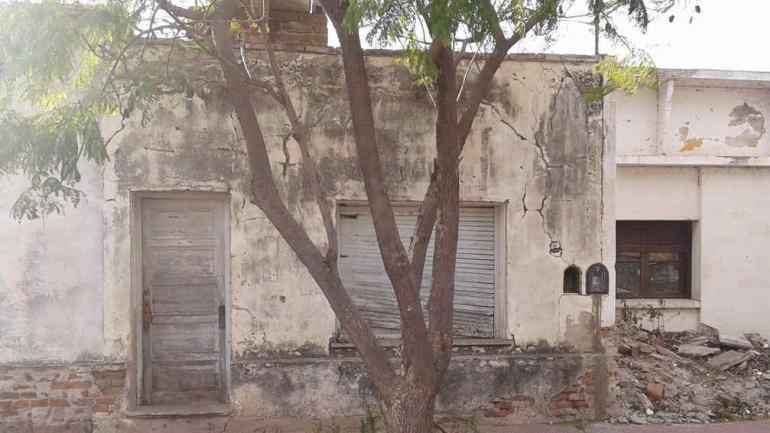 CRUZ DEL EJE. La casa donde se cometió el doble crimen (La Voz/A. Carrizo).