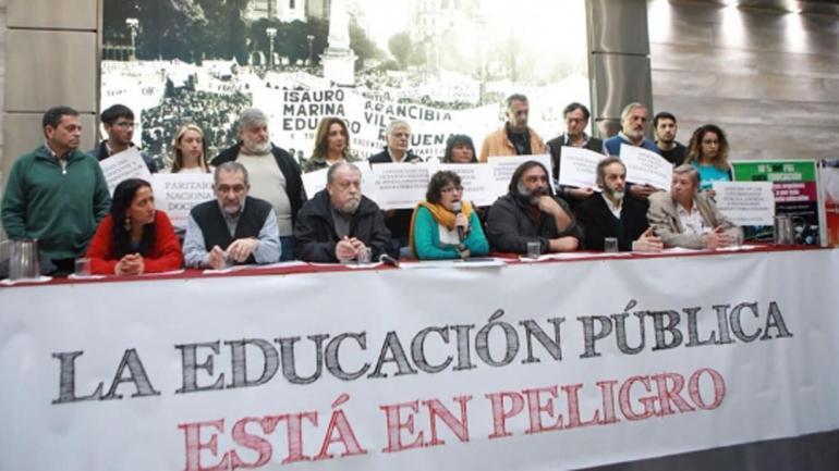CONFERENCIA DE PRENSA. La CTERA, la CONADU y el SADOP convocaron a un paro nacional docente y a una marcha nacional educativa al Congreso de la Nación. (Ctera)