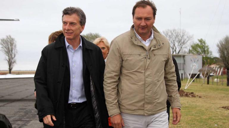 Macri con Dellarossa en el cierre de campaña del año 2014 (La Voz/Archivo).