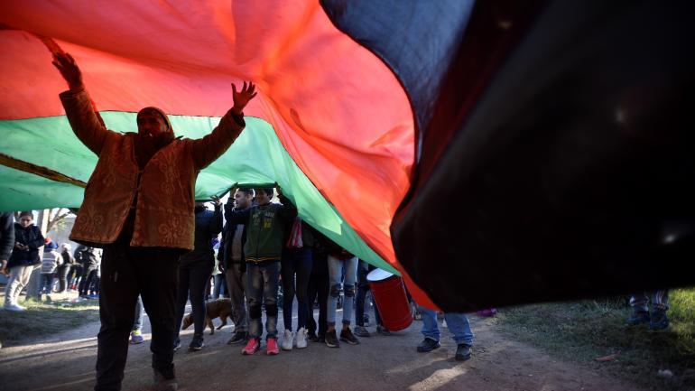 En conflicto. Los ocupantes hicieron marchas de protesta. (Pedro Castillo)