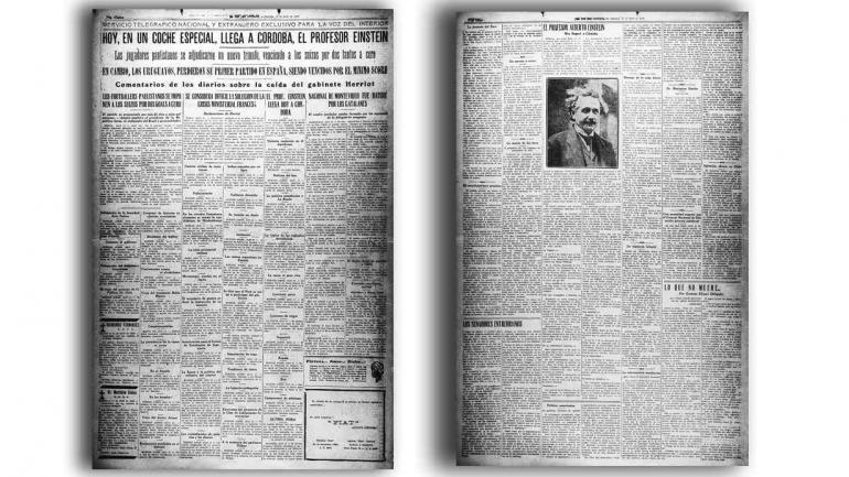 """COBERTURA. Así reflejaba La Voz la llegada de """"el Sabio"""" Einstein. (Archivo)"""