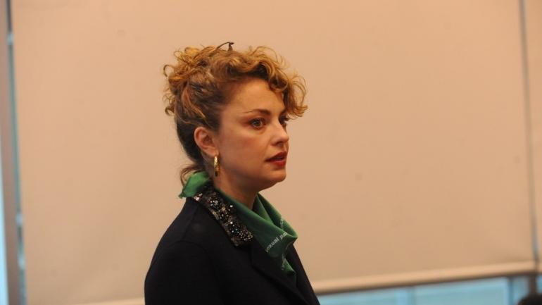 Dolores Fonzi. Expuso ayer y se sumó así al grupo de actrices que se manifestaron a favor del aborto. (Clarín)