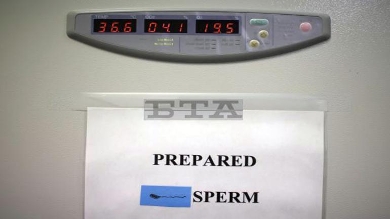 El esperma preparado se almacena en una incubadora lista para la inseminación en un laboratorio en Melbourne, Australia. (Foto AP / Wong Maye-E)