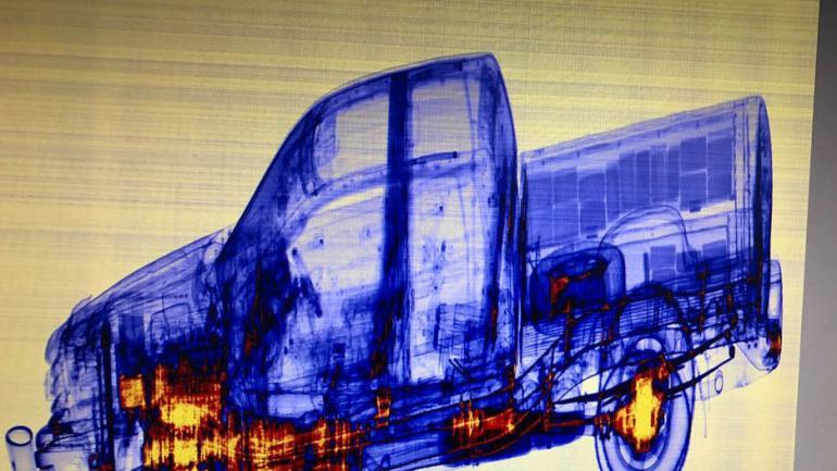 Para dar con la droga utilizaron un camión escáner.(Afip)
