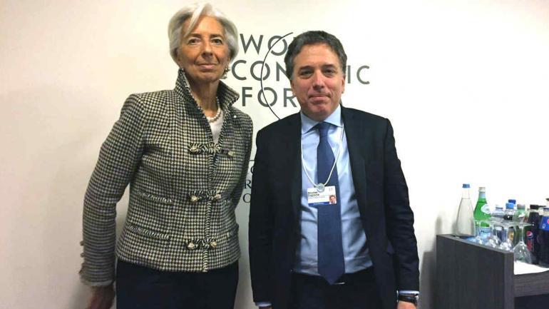 JUNTOS. Lagarde y Dujovne, en el Foro Económico Mundial.