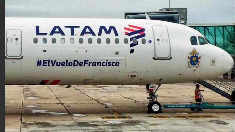 El A321 (CC-BEK) que transportó al Papa Francisco llegó hoy a Córdoba.
