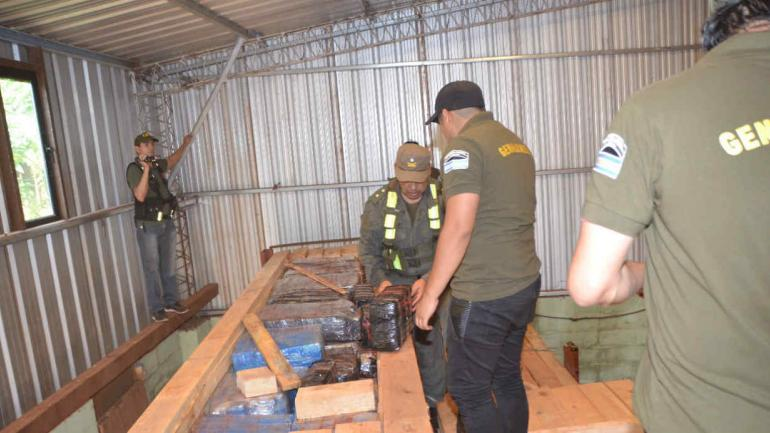 """Efectivos de Gendarmería durante el operativo """"Maderos Narcos"""". (Gentileza Ministerio de Seguridad de la Nación)"""