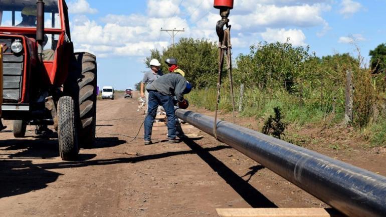 Gasoductos en obra. Electroingeniería ejecuta el sistema regional sur.