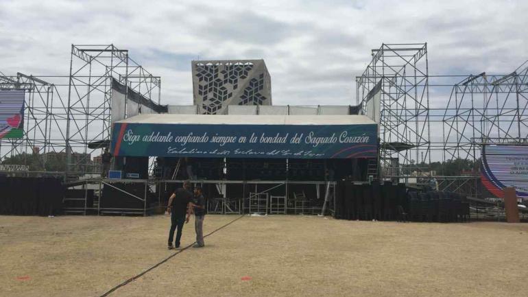 El escenario se terminó de armar, finalmente. Foto: Gobierno de Córdoba.