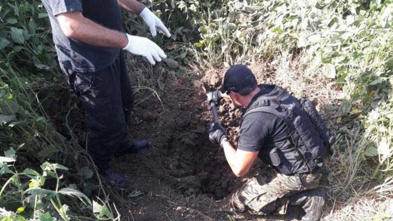 El proyectil fue detonado en un campo aledaño (Policía)