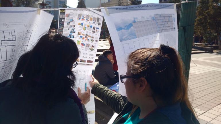 La Facultad de Arquitectura también sacó las clases y el conflicto a la calle. (Pedro Castillo)