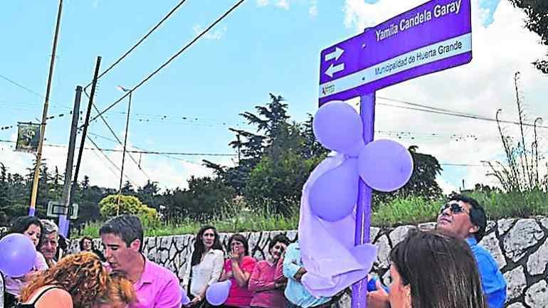 Gesto. Una calle en Huerta Grande lleva su nombre. (El diario de Carlos Paz)