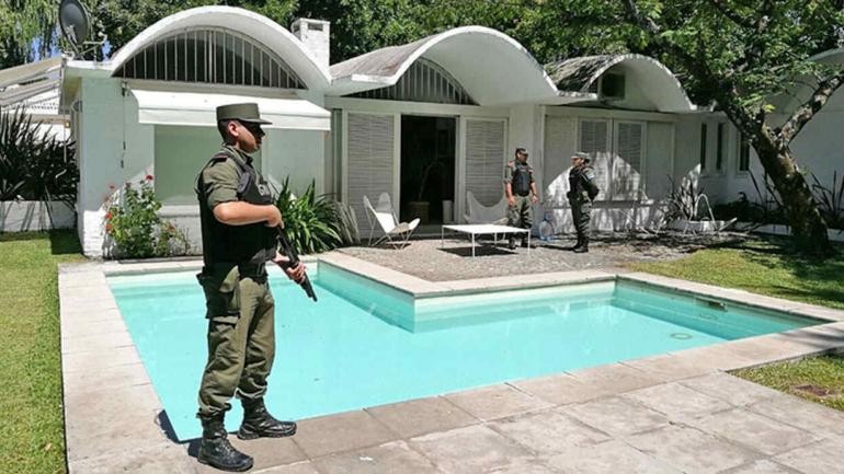 Alquilada. El detenido había alquilado una casa en el Olivos Golf Club. (Ministerio de Seguridad de la Nación)