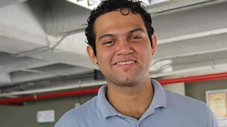 Adrián Chamorro. Estudiante de Ingeniería Física de la U.N. en Medellín. (Unimedios)
