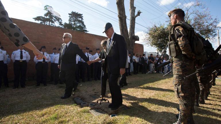 GUATEMALA. El funeral del exdicatdor (AP).