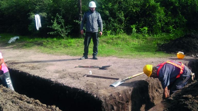 Hallazgo de restos óseos en el Cerro Colorado (Prensa Gobierno de Córdoba).