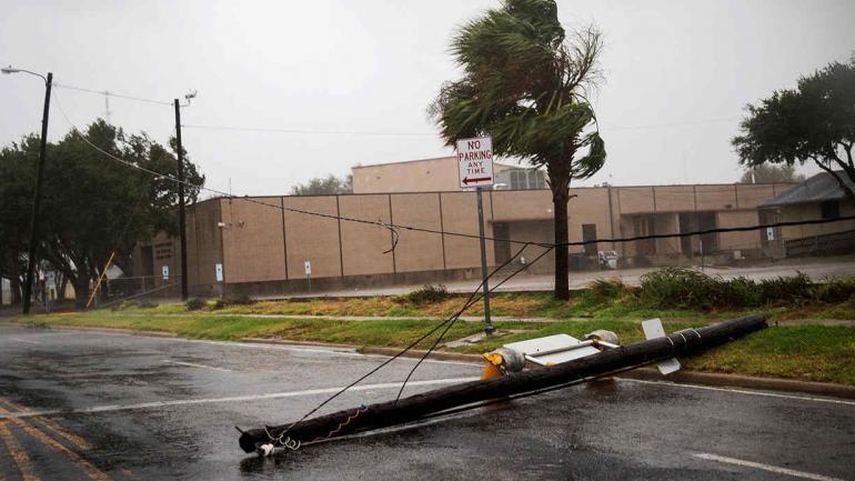 Fuertes vientos en Texas (AP).