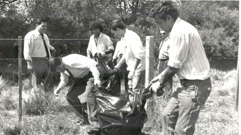 El 27 de enero de 1995, en un campo de Santa Rosa de Río Primero, se hallaron los tres cadáveres.