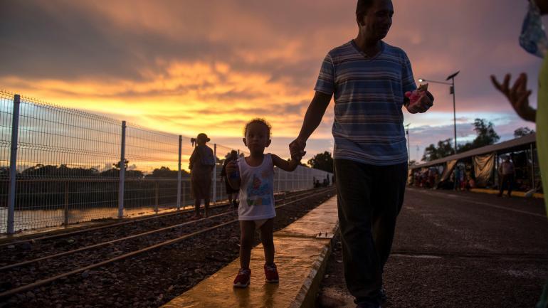 HONDURAS. La caravana partió el pasado 13 de octubre de San Pedro Sula (Honduras) hacia Estados Unidos. (AP)