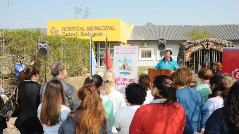 El Hospital de Arroyito, en una tarea solidaria, atiende a miles de pacientes del departamento de San Justo, que lo eligen por su ubicación estratégica y la calidad de sus servicios. (Municipalidad de Arroyito)