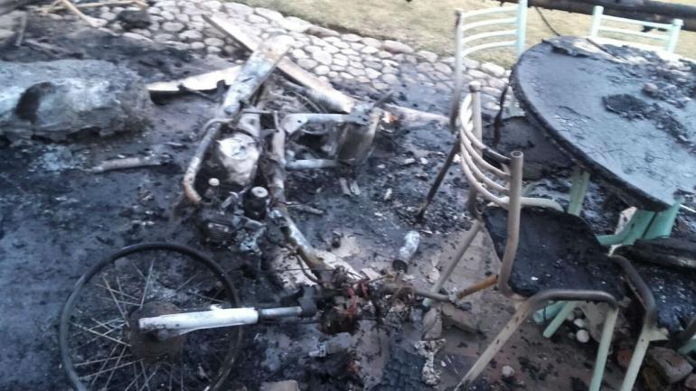 La víctima fatal tenía 70 años (Bomberos de Villa del Dique).