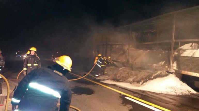 Trabajaron en el lugar bomberos de Las Vertientes y Sampacho (Policía).