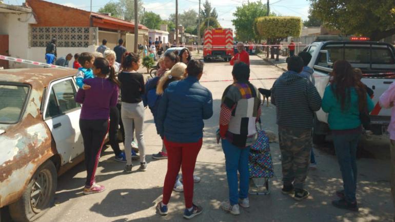 Los Bomberos arribaron a la vivienda a las 10.15 (Pedro Castillo).