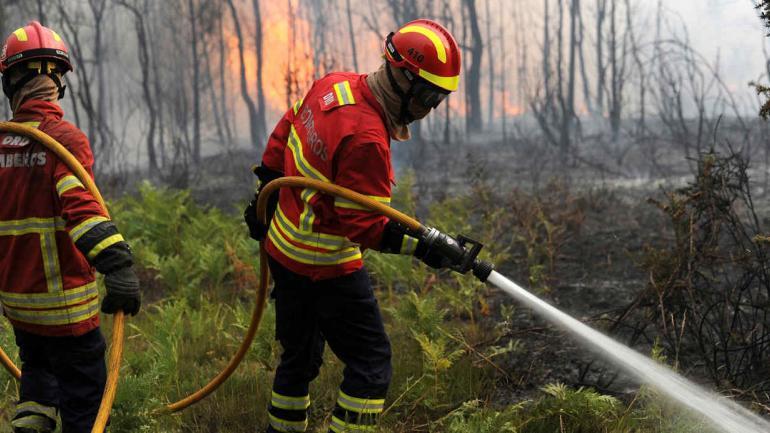 Dron graba el apocalíptico escenario que dejó el incendio en Portugal