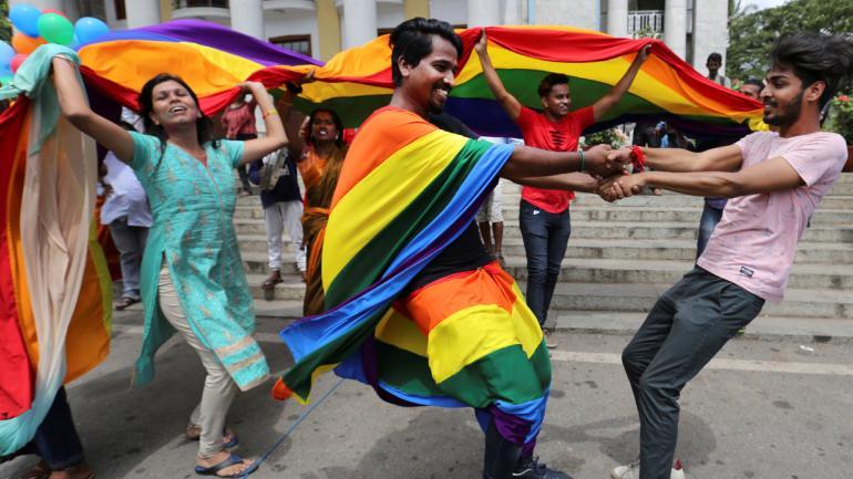 INDIA. Los festejos tras el fallo (AP).