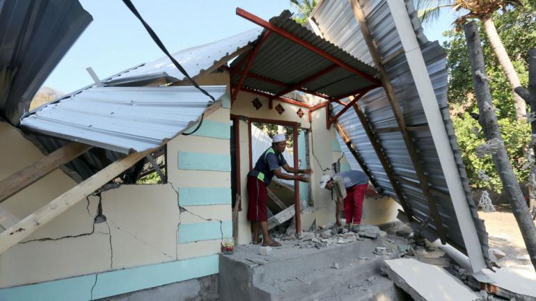 El terremoto causó desastres (AP).