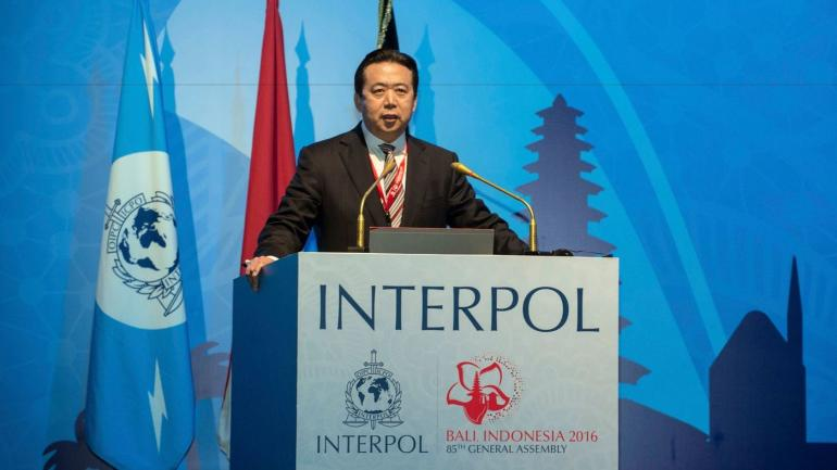 Investigan la desaparición del director de Interpol