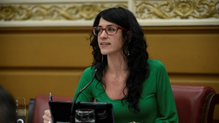 Vilches. La legisladora del PTS, Laura Vilches. (La Voz/ Archivo)