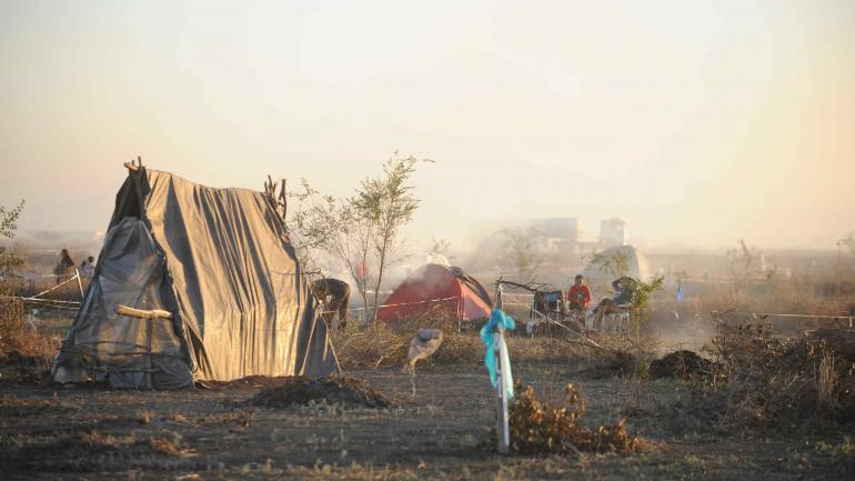Ocupación. Esta era la fisonomía del predio en 2014. Las casillas precarias de las familias dominan la escena del lugar usurpado en Juárez Celman. (Ramiro Pereyra)