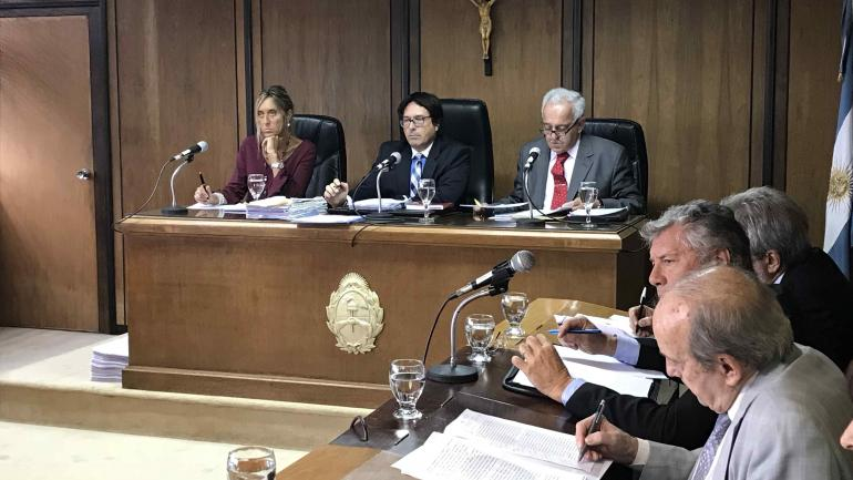 Los jueces de la Cámara Federal, durante la audiencia de este jueves en Córdoba.