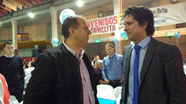 Juan Tillard, Gerente General de La Voz, y Adrián Brito, del gremio de Canillitas (Javier Ferreyra/La Voz).