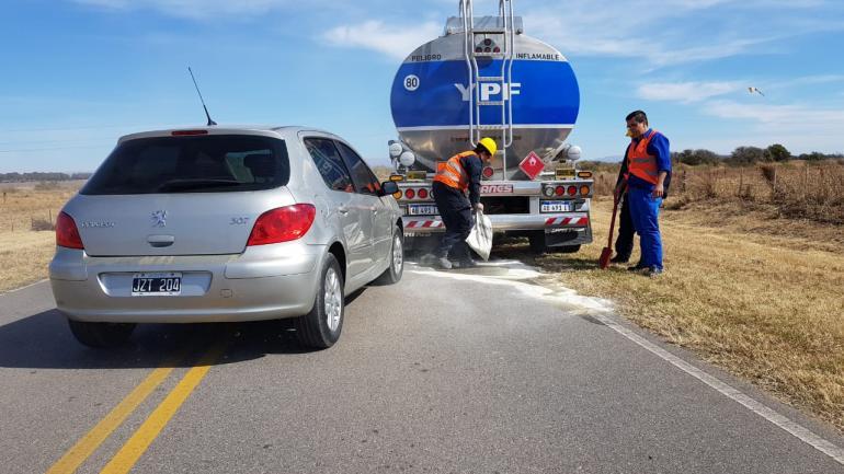 El simulacro consistió en un desperfecto mecánico de un camión que obstaculizaba la calzada y que generó un impacto desde atrás de un automóvil (LAC)