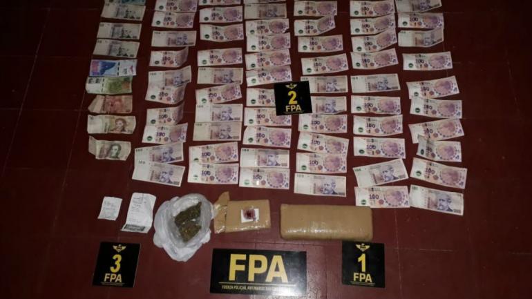 Droga y dinero secuestrado (FPA).
