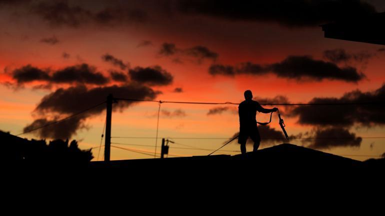 PREPARACIÓN. Para la llegada del huracán (AP/John Locher).