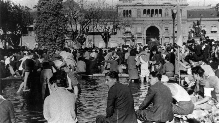 17 de octubre de 1945. (Télam / Archivo)
