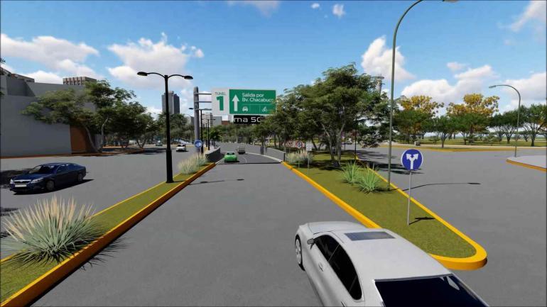 El nuevo paisaje. El viaducto es la intervención fundamental, pero hay una enorme cantidad de obras complementarias. Render del proyecto.