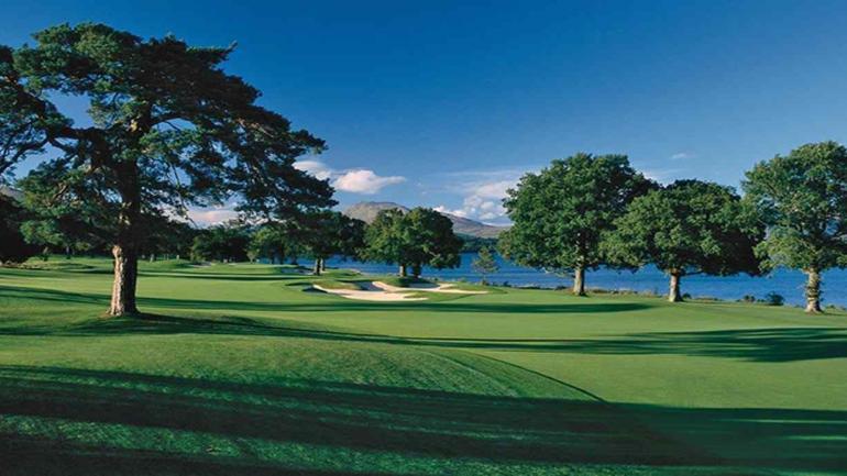 Loch Lomond Golf Club en Escocia, diseñado por Tom Weiskopf.