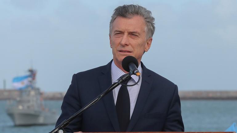MACRI. El presidente estuvo en el acto homenaje, a un año de la desaparición (Télam).