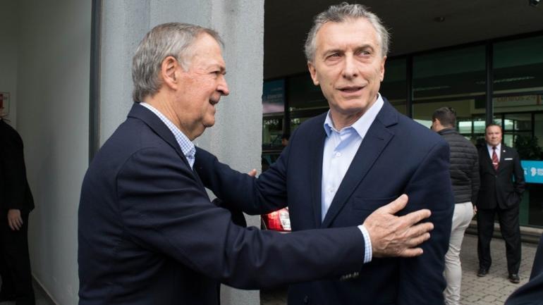 Macri y Schiaretti, juntos en Río Cuarto (Gobierno de la Provincia/Centro Cívico Río Cuarto).