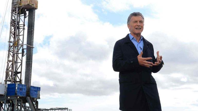 Macri en Vaca Muerta (Presidencia de la Nación).