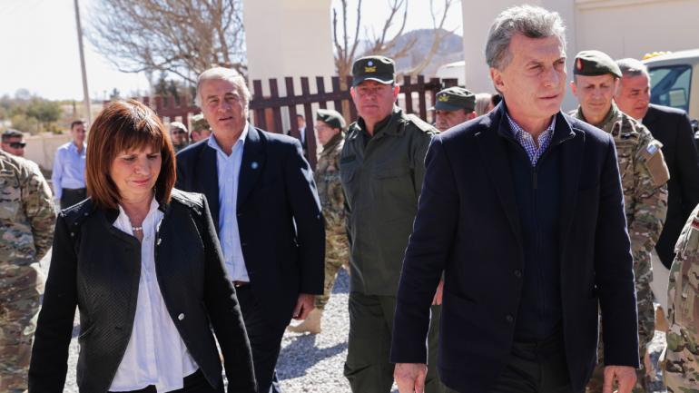 EN JUJUY. Macri, junto a Aguad y Bullrich (Prensa Presidencia).