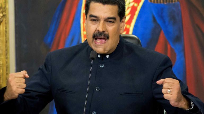 """Nicolás Maduro. El presidente venezolano dijo que es una obra """"de la incapacidad de la derecha para gobernar con democracia""""."""