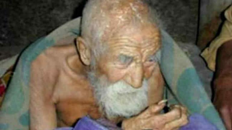Mahashta Murasi, el indio que dice tener 179 (Imagen de Internet)