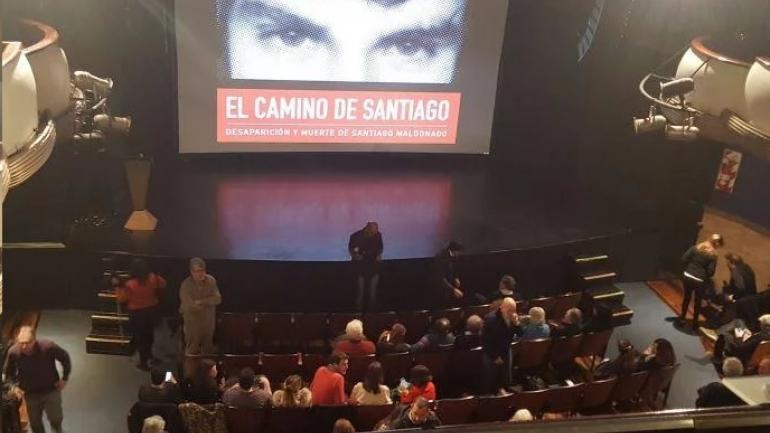Presentación del documental de Santiago Maldonado. (TN)