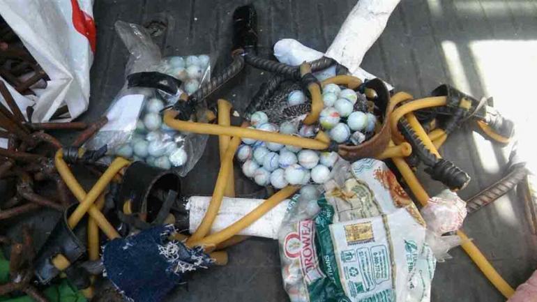 Imagen que difundió la Policía Metropolitana: elementos secuestrados a los manifestantes en el Congreso.