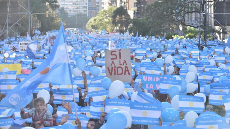 La marcha por la vida. (Ramiro Pereyra / Archivo)